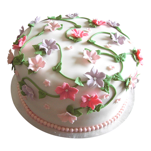 Colorful Flower Birthday Cake Chandigarh Cakes Delivery Home