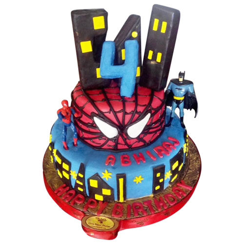 spider-man-bat-man-cake
