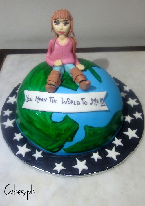 You Mean The World To Me Cakes