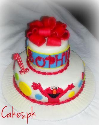 Elmo Themed First Birthday Cake