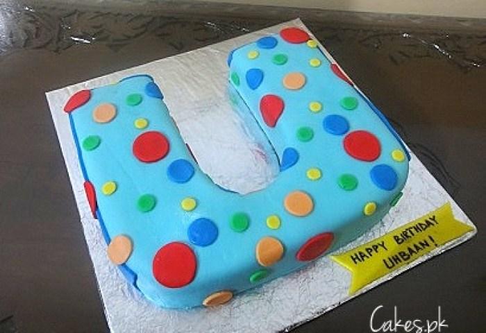Letter U Shaped Cake Cakespk