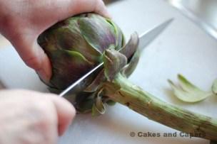 Cutting the stem off