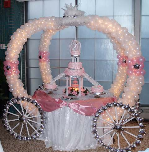 Wedding cake with Crown ballons table setup mumbai