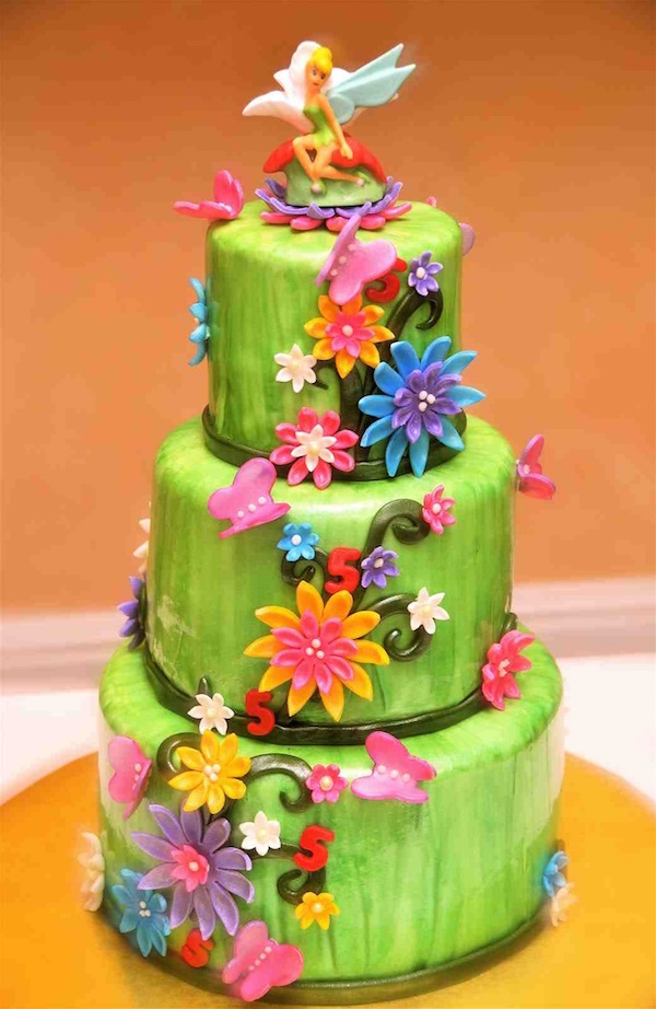 Remarkable Tinkerbell Theme Designer Birthday Cakes And Cupcakes Mumbai Funny Birthday Cards Online Hendilapandamsfinfo
