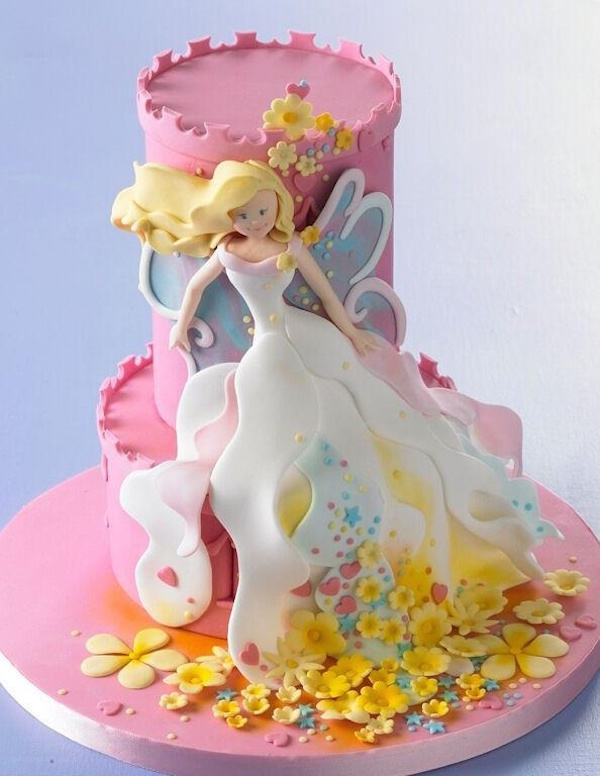Fantastic Tinkerbell Theme Designer Birthday Cakes And Cupcakes Mumbai Funny Birthday Cards Online Fluifree Goldxyz