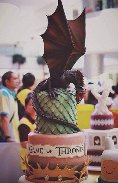 25-game-of-thrones-theme-designer-cakes-cupcakes-mumbai-29-2-tier-dragon-figure