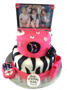 Choco Vanilla Two Tier Birthday Girl Cake Cakes By Kimberly