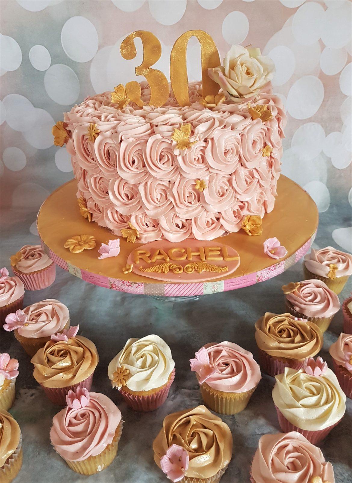 Pink Amp Gold 30th Cake