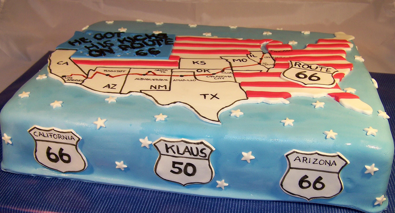Route 66 Geburtstagskuchen zum 50 Geburtstag  CAKES FOR FUN