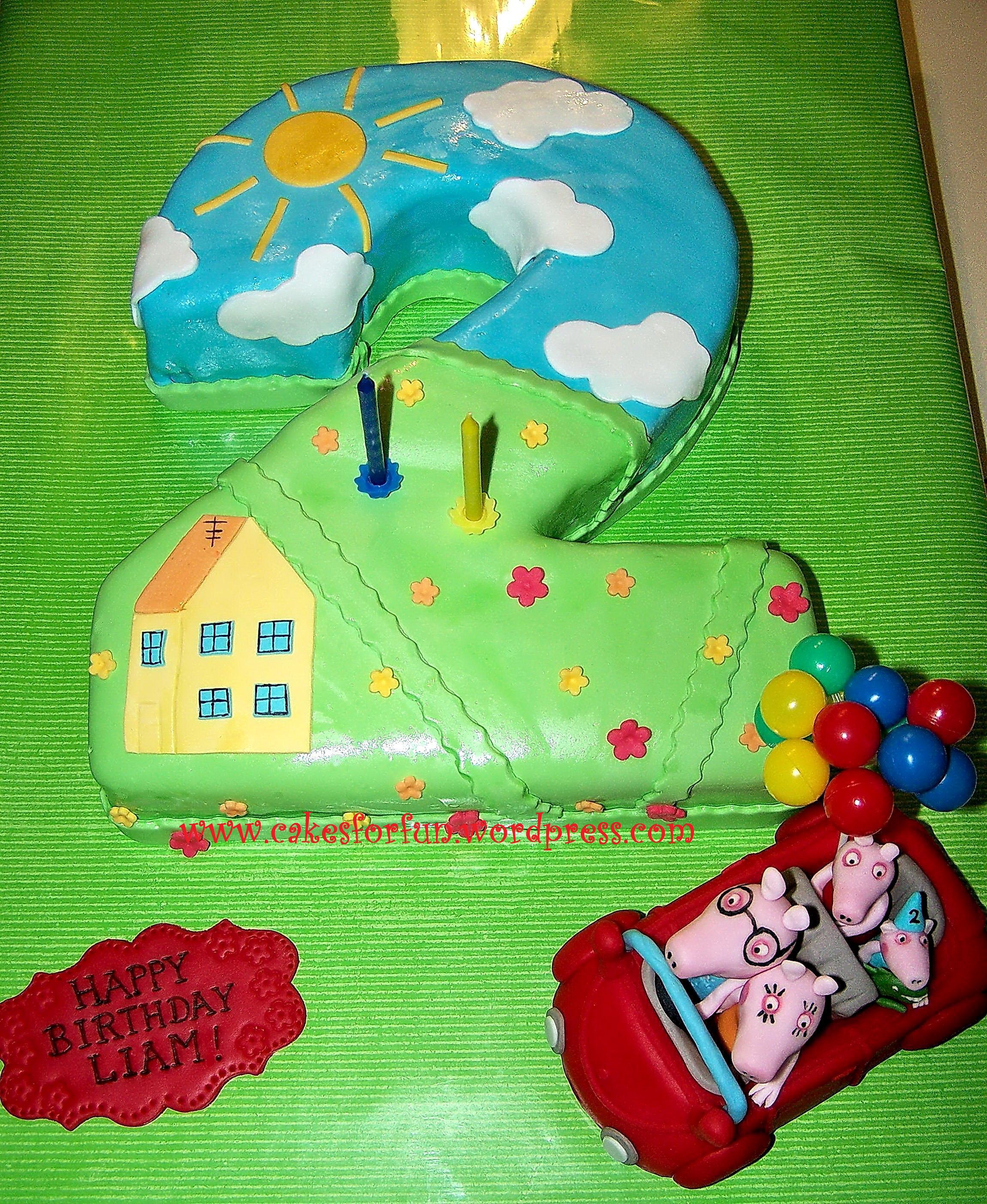 Peppa Wutz Geburtstagstorte zum 2 Geburtstag von Liam