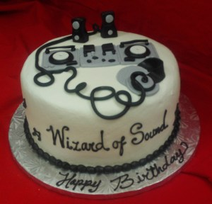 Sculpted Wizard of Sound cake