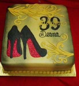 Gold metalic cake