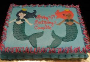 Airbrushed mermaid sheet cake