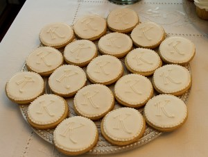 Frosted cookies with initial
