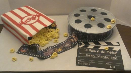 Godfather cake, wizard of oz cake, popcorn cake, singing in the rain cake, edible film, 60 year