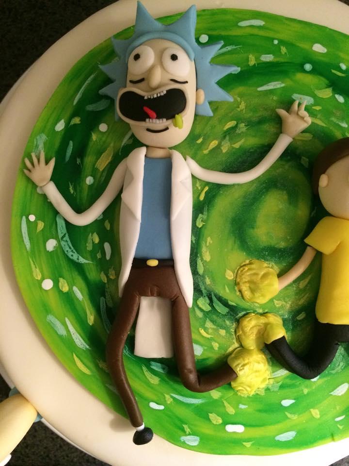 Rick and Morty cake tutorial  The Lovely Baker