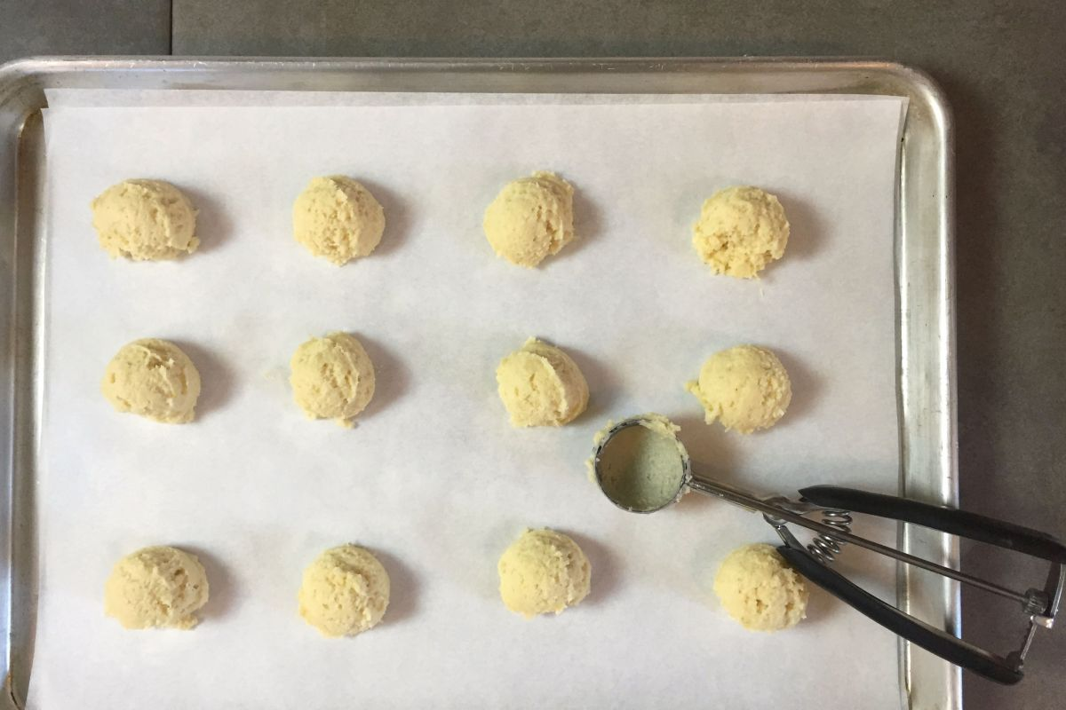 Cookie Dough for Lemon Ricotta Cookies