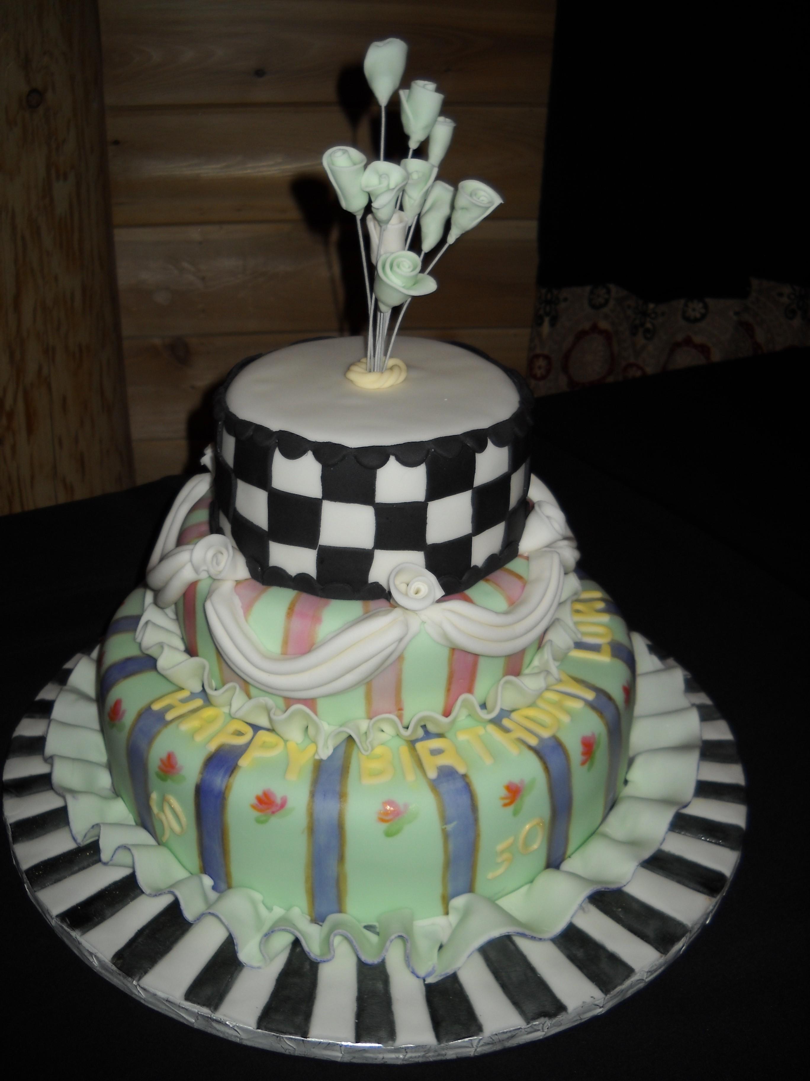 Mackenzie Childs Birthday cake  Cakewalkkys Blog