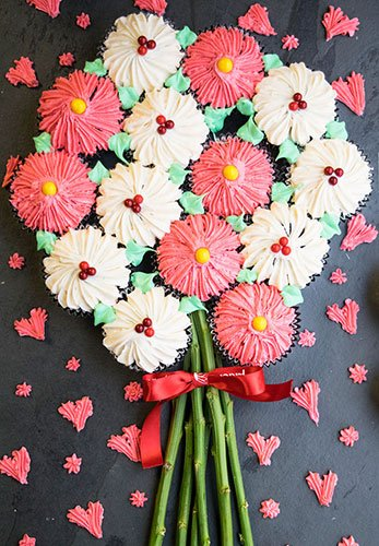 How To Make A Flower Cupcake Bouquet Cakewhiz