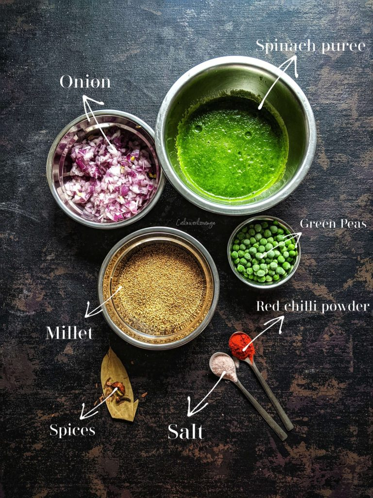 Millet Spinach Pulao