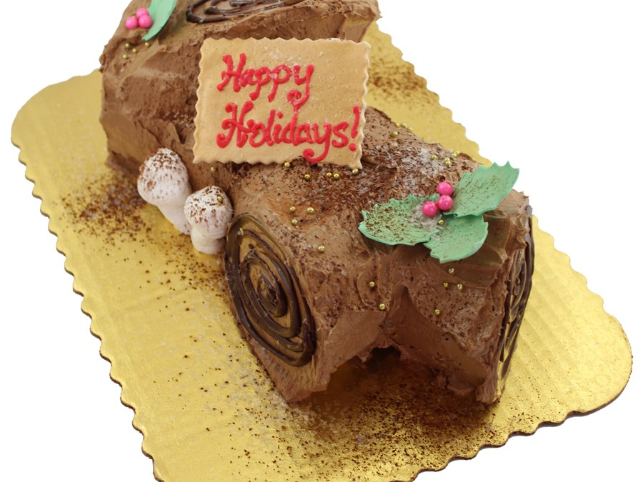 Happy Holidays from Cake Works! Delicious Yule Log!