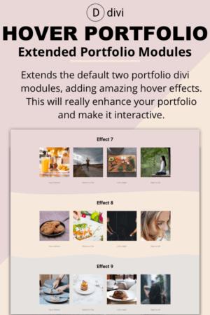 Hover Portfolio Modules - Divi Plugin