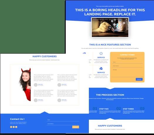 Free Multipurpose Landing Page Divi Layout