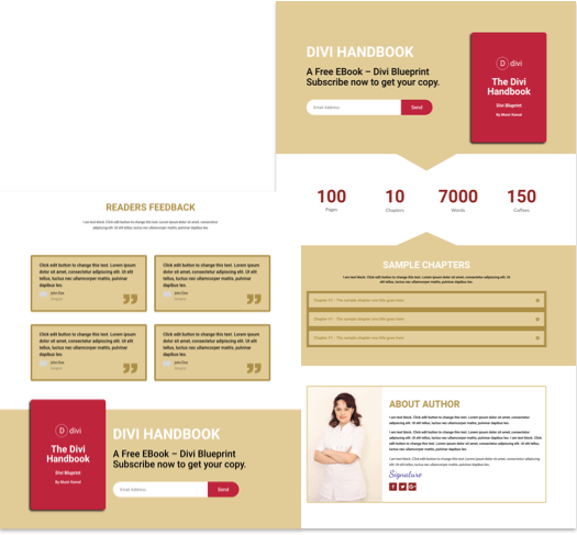 Free Landing Page Divi Layout for EBook