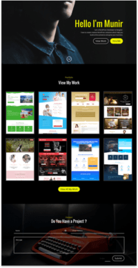Simple One Page Portfolio Template