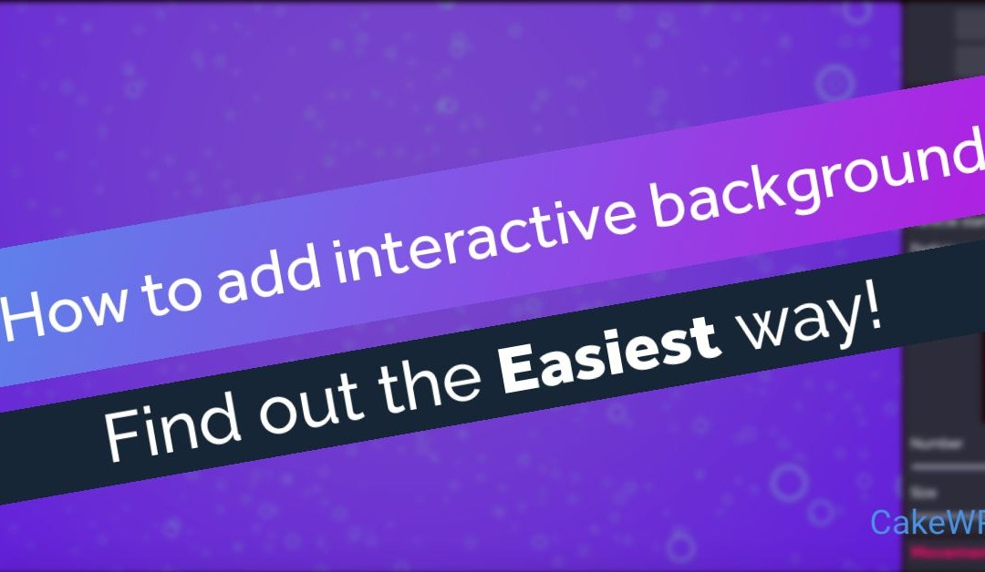 How to add interactive particles background