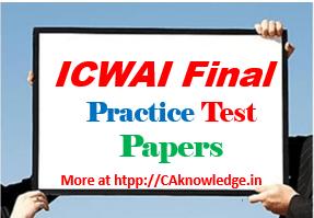 CWA Final Practice Test Paper