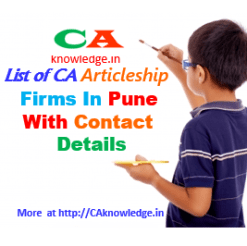List of CA Articleship Firms in Pune