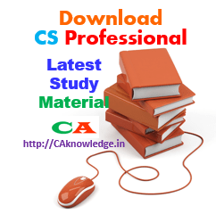 CS Professional New Syllabus, Study Material