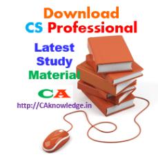 CS Professional New Syllabus, Study Material