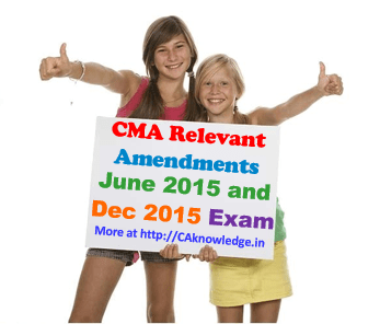CMA Relevant Amendments