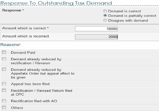 How to submit response for outstanding tax demand spiritdancerdesigns Images