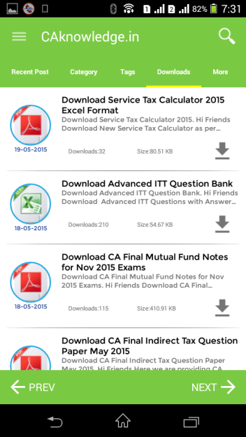CAknowledge.in Android App File Download