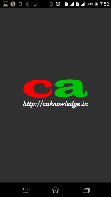 CAknowledge.in Android App First Screen