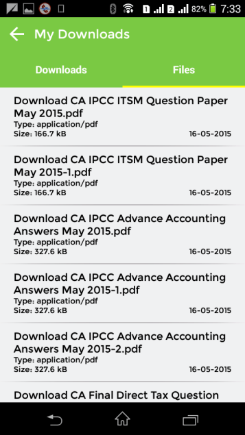 CAknowledge.in Android App My Downloaded Files