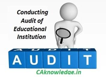 Conducting Audit of Educational Institution CAknowledge