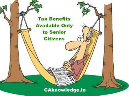 Tax Benefits to Senior Citizens