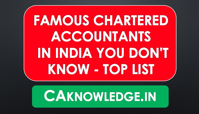 Famous Chartered Accountants in India