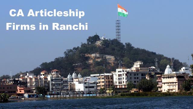 CA Articleship Firms Ranchi