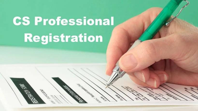 CS Professional Registration