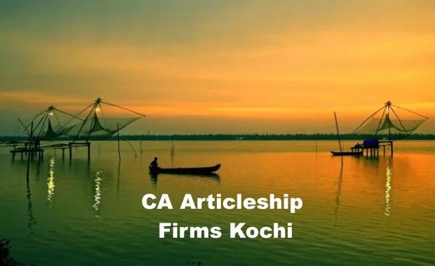 Top CA Articleship Firms Kochi, List of Best CA Articleship Firms in Kochi