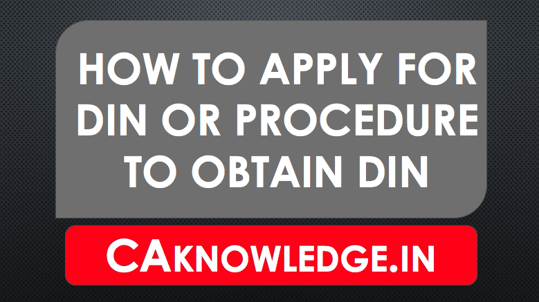 How to apply for DIN