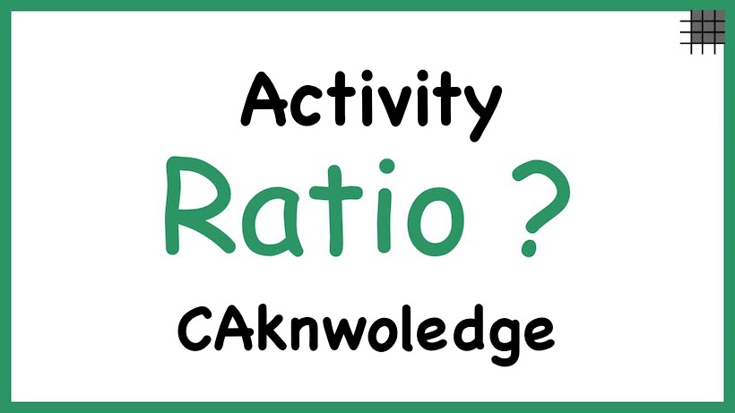 Activity Ratio