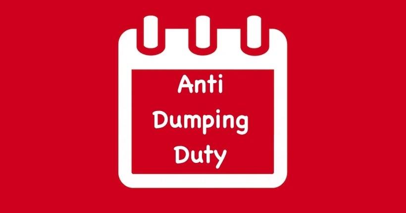 Anti Dumping Duty