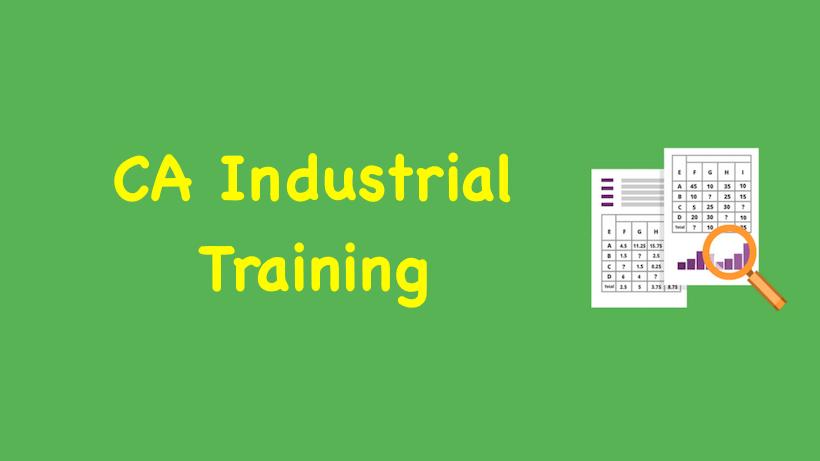 CA Industrial Training