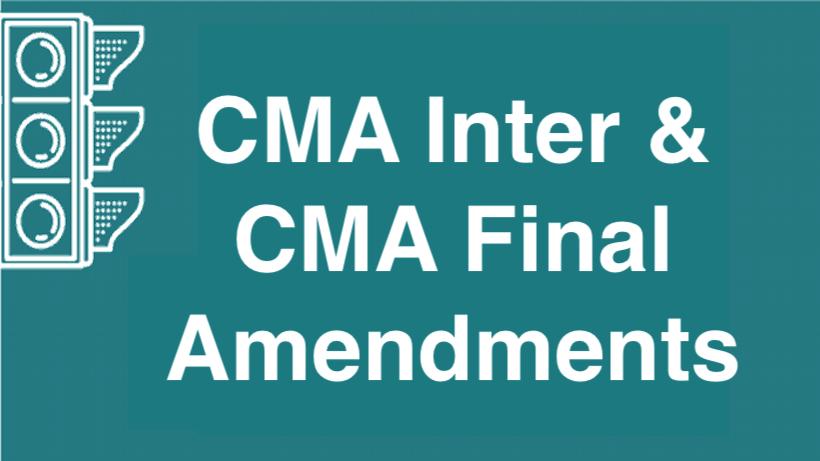 CMA Amendments